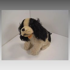 Steiff's Black and White Mohair Musical Cockie Cocker Spaniel