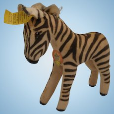 Steiff's Smallest Velvet Zebra With All IDs