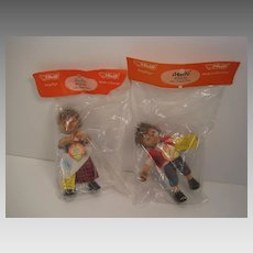Steiff's Smallest Micki and Mecki Hedgehog Dolls With All IDs in Original Steiff Branded Packaging