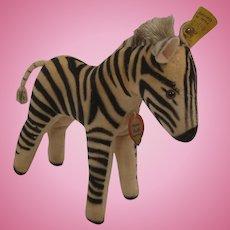 Steiff's Smallest Velvet Zebra With All IDs