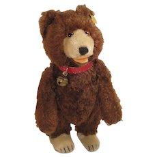 Steiff's Medium Sized Very Early Postwar Brown Mohair Teddy Baby Bear With IDs