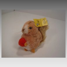 Steiff's Woolen Miniature Squirrel With All IDs