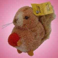 Steiff's Woolen Miniature Squirrel With All IDs