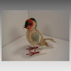 Steiff's Mohair Early Post War Finch Bird With Two IDs