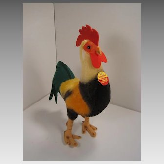 Steiff's Largest Mohair and Felt Rooster With All IDs