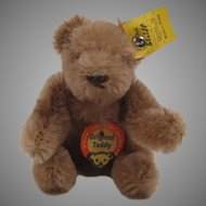 Steiff's Smallest Caramel Mohair Bendy Style Teddy Bear With All IDs