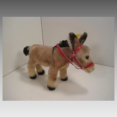 Steiff's Medium Sized Mohair Donkey With All IDs