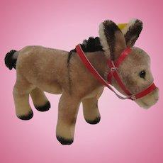 Steiff's Medium Sized Mohair Donkey With All IDs