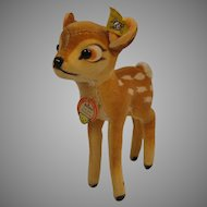 Steiff's Smallest Bambi Velvet and Mohair Deer Fawn With IDs