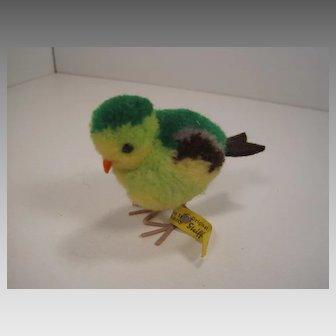 Steiff Green Woolen Miniature Bird With All IDs
