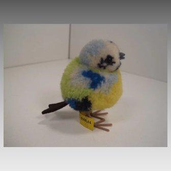 Steiff's Woolen Miniature Blue Bird With All IDs
