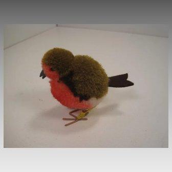 Steiff's Woolen Miniature Red Robin Bird With All IDs