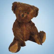 Charming Vintage Musical Brown Mohair Teddy Bear