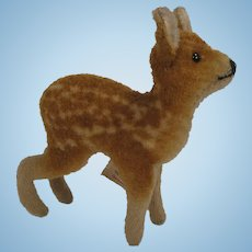 Steiff's Early Post War Wool Plush Deer With ID