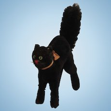Steiff's Largest Post War Black Scary Tom Cat With ID