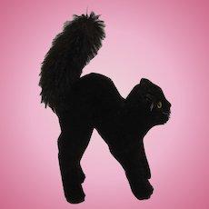 Steiff's Medium Black Mohair Scary Tom Cat