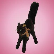 Steiff's Almost Smallest Black Velvet and Mohair Tom Cat With IDs