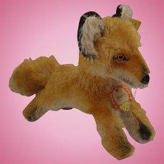 Steiff's Medium Sized Mohair Xorry Fox With All IDs