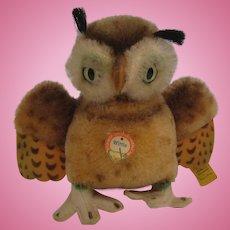Steiff's Medium Sized Wittie Owl With All IDs