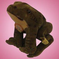 Steiff's Velvet Froggy Frog With All IDs