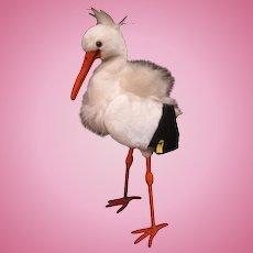 Steiff's Lifesized Studio Stork With IDs