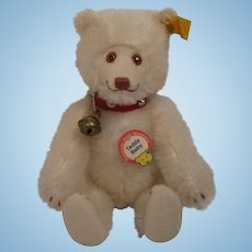 Steiff's White Mohair Teddy Baby Replica Bear With All IDs