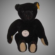 Steiff's Black Mohair Miniature Teddy Bear With All IDs