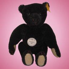 Steiff's Black Mohair Miniature Teddy Bear With All IDs