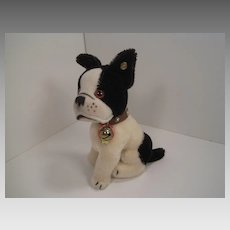 Steiff's Replica Black and White Bully The Bulldog from 1927 With All IDs