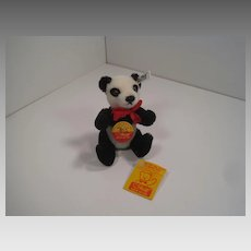 Steiff Mohair Panda Exclusive Edition For Hobby Center Toys With All IDs