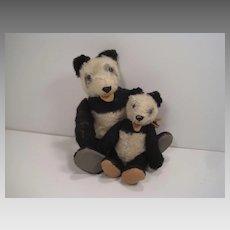 Steiff Pair of Old Panda Pals