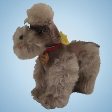 Steiff's Almost Smallest Grey Mohair Snobby Poodle With All IDs