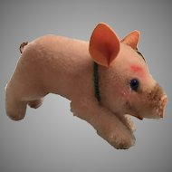 Steiff's Fabulously Colored Mohair Jolanthe Pig With All IDs Plus a Bonus Tag