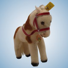 Steiff's Larger Mohair Play Pony With All IDs