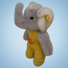 Steiff Prototype Soft Plush Baby Elephant Toy With ID