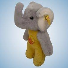 Steiff Prototype Soft Plush Baby Elephant Toy With ID