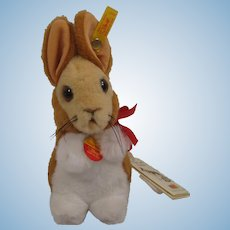 Steiff Soft Plush Cosy Manni Rabbit With All IDs