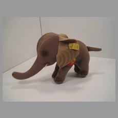 Steiff Small Grey Trampy Elephant With All IDs