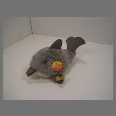 Steiff Soft Grey Plush Clippy Dolphin With All IDs