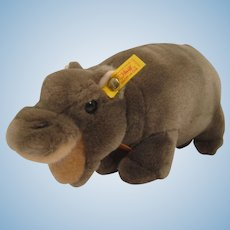 Steiff Soft Plush Mockili Hippo With All IDs