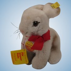 Steiff Soft Plush Pummy Rabbit With All IDs