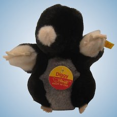 Steiff Soft Plush Diggy Mole With All IDs