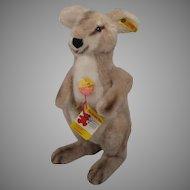 Steiff Soft Plush Linda Kangaroo With All IDs