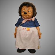 Steiff Largest and Completely Wonderful Micki Girl Hedgehog Doll With All IDs