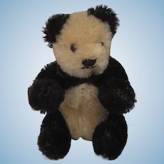 Steiff Tiny Bendy Style Mohair Panda With ID
