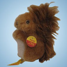 Steiff Soft Plush Kecki Squirrel With All IDs