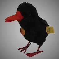 Steiff Smallest Black Mohair Hucky Raven With All IDs