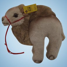 Steiff Soft Plush Hocky Camel With IDs