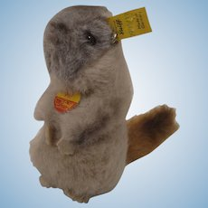 Steiff Soft Plush Piff Marmot With All IDs