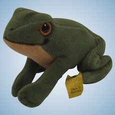 Steiff Smallest Green Froggy Frog With IDs